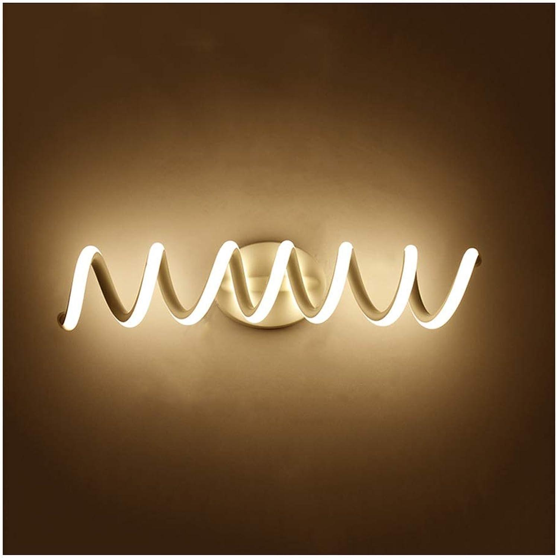 William 337 Spiegel Frontleuchte LED Bad Anti-fog Spiegel Kabinett Licht Moderne Nordic Make-Up Lampe Wandleuchte [Energieklasse A +] (Farbe   Warmes licht-33cm)