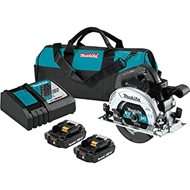 Makita XSH04RB 18V LXT Lithium-Ion Sub-Compact Brushless Cordless 6-1/2 Circular Saw Kit (2.0Ah)