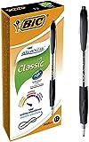 Bic Atlantis Classic a Scatto Punta Media 1,0 mm Confezione 12 Penne Colore Nero...