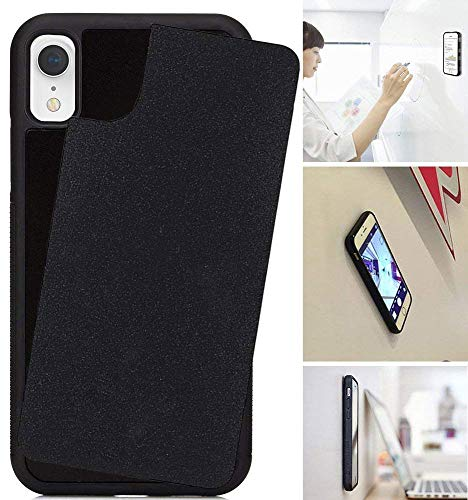 Anti Gravity Case for iPhone XR with Dust Proof Film, Magic Nano Hands Free Stick to Wall Anti-Gravity Case Black Anti Gravity Case for iPhone xr