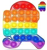 Fidget Toy Juguete Antiestres Pop It Sensorial Among Us para Niños y Adultos Bubble Push Juguetes Antiestrés de Explotar Burbujas para Aliviar estrés y Ansiedad