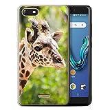 Stuff4 Phone Case for Wiko Tommy 3 Wildlife Animals Giraffe