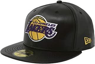 New Era 59Fifty Hat Los Angeles Lakers Black Fitted Cap 70344054 (8 1/8)