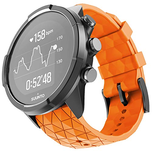 ANCOOL Compatible with Suunto 9 Baro/Suunto Spartan Band Soft Silicone Strap Replacement Wristbands for Suunto GPS Smart Watch -Orange