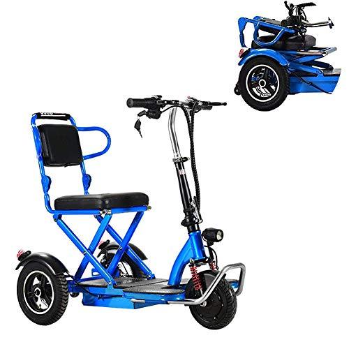CSFM Erwachsene e Dreirad, Elektromobil Kann das Elektrische Faltfahrrad des Aufzugs mit LED Scheinwerfern Betreten Intelligentes Schalten
