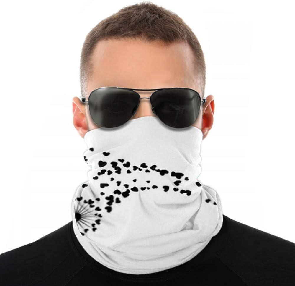 Headbands For Men Women Neck Gaiter, Face Mask, Headband, Scarf Black On White Vector Dandelion Herbs Turban Multi Scarf Double Sided Print Women Headband For Sport Outdoor
