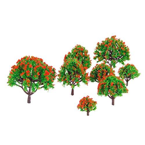 PULABO 10 stücke Miniatur Bäume Modell Bodendecker Pflanzen Waldherstellung Zubehör Multi Skala Zug Eisenbahn Eisenbahn Landschaft Diorama oder Layout Robust und Praktisch Es klappt