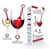 PureWine Wand Purifier Removes Histamines and Sulfites - Reduces Wine Allergies & Eliminates Headaches, Aerates Restoring Taste & Purity - Pack of 8 (Red)