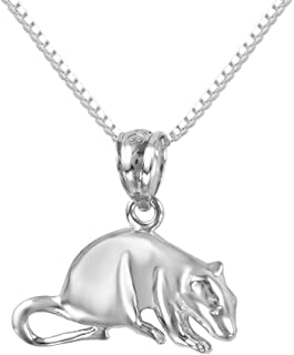 SURANO DESIGN JEWELRY Sterling Silver Mouse, Rat Charm/Pendant, Made in USA, 18