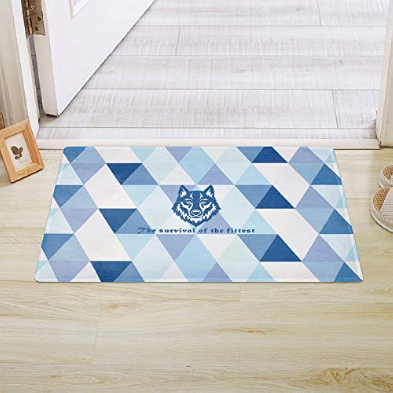 TDDT Nordic Blau Geometrische Muster Matte Tür Matte Tür Eintrag Schlafzimmer Tür Anti-Rutsch-Matte Bad Eingangsmatte