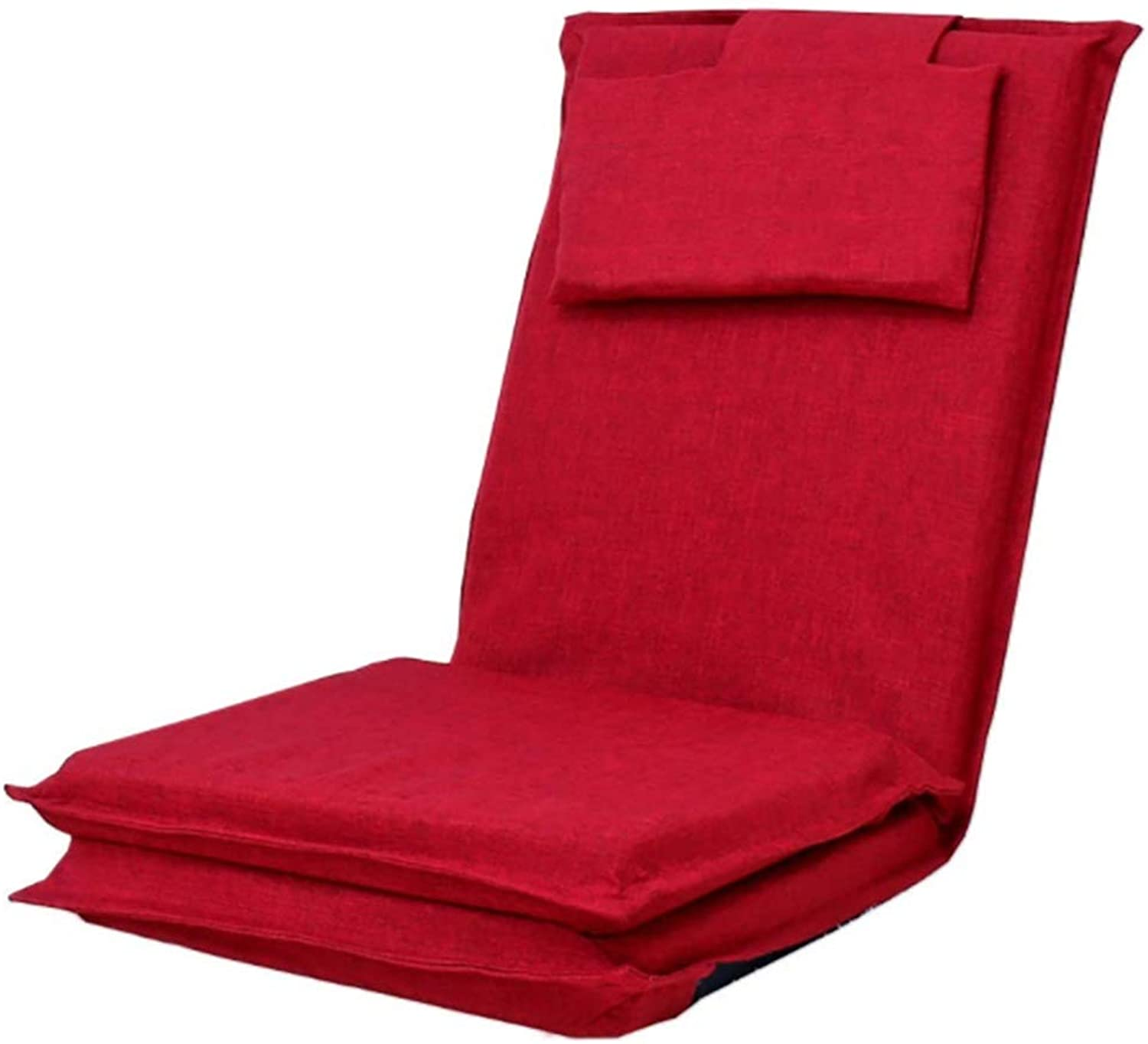 64e9358fb2f6 XEWNEG Lazy Sofa Foldable Floor Balcony Sofa Single Backrest Chair (167  52cm) (color Red) Chair Bed nszhhw7040-Furniture