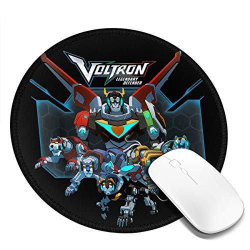 Botggyh Voltron Round Mouse Pad 7.9x7.9 Desktop Working Mouse Mat Gaming Computer Pc Mousepad for Home/Office/Gaming