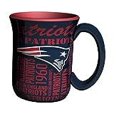 NFL New England Patriots Sculpted Spirit Mug, 17-ounce, Blue