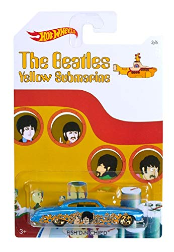 FISH\'D N CHIP\'D 2016 Hot Wheels THE BEATLES 50th Anniversary YELLOW SUBMARINE 1:64 Scale Collectible Die Cast Metal Toy Car Model 1/6 by Hot Wheels