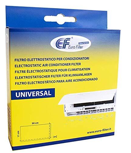 Euro Filter Filtro Elettrostatico Universale 300x110 millimetri per Condizionatori – Ritagliabile