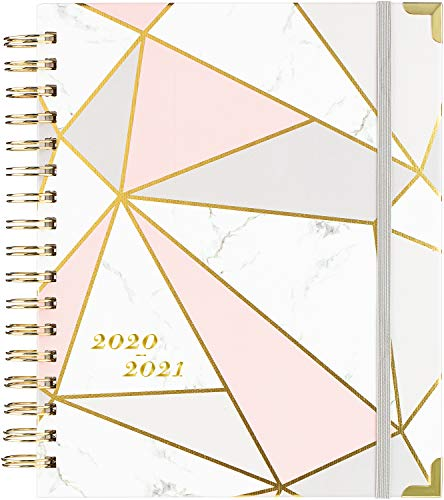 """2020 Planner - Weekly & Monthly Planner with Gift Box, Thick Paper, 8"""" x 10"""", Back Pocket with 15 Notes Pages + 12 Monthly Tabs"""