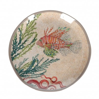 Sea Life by Rose & Tulipani Rose & Tulipani - Set di 2 piatti da insalata, 100 pezzi in melammina