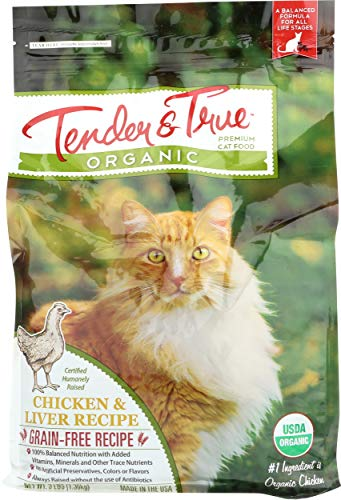 Tender & True Cat Food, Organic, Chicken & Liver Dry