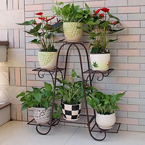 Plante moderne Présentoir JARDINIÈRES main Garland Jardinière Salon PLANCHERS Pot Rack Stands fleurs en plein air Jardin Anti-Bronze Métal Fleur Jardinière d'intérieur Support Facile à installer
