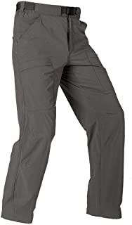 FREE SOLDIER Men's Outdoor Cargo Hiking Pants Lightweight Quick Dry Tactical Pants Nylon Spandex