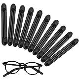 Dokpav 5 Paare Silikon Antirutsch Überzüge für Brillen Sonnenbrillen, Schwarz Brille Ohrbügel Gläser Ohrhaken, Bügelenden Rutschfeste Fassunghalter, Brille Antirutsch Brillenbügel Fassungshalter