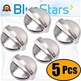 [UPGRADED] Ultra Durable WB03T10284 Range Stove Oven ALL METAL Control Knob Replacement Part by Blue Stars - Exact Fit For GE Range/Stove/Oven - Enhanced Durability with METAL Core - PACK OF 5