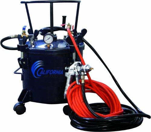 California Air Tools 365 Pressure Pot with HVLP Spray Gun and Hose