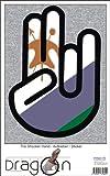 INDIGOS UG The Shocker Hand - Wandtattoo/Wandaufkleber/Aufkleber - schwarzer Umriss mit Fahne/Flagge - Lesotho-Lesotho 70 cm