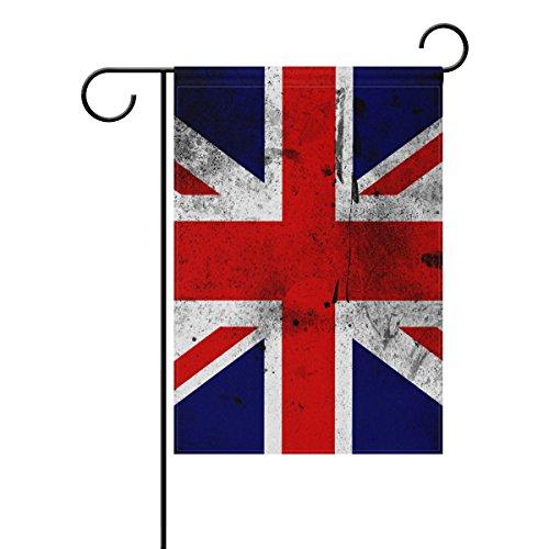 coosun la Drapeau britannique Polyester Drapeau Jardin dans le jardin libre drapeau Home Party Décor, double face, 12 x 18