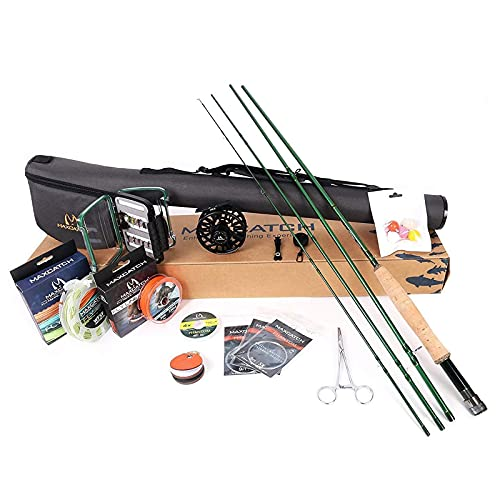 MAXIMUMCATCH Premier Fly Fishing Rod and Reel Combo