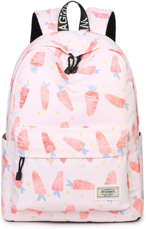 Xcstdjx Schultasche-Rucksack Der Schulrucksackkinder Zuflliger Damenrucksack-Laptop-Reisetaschenmdchen