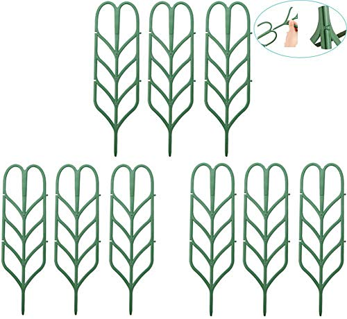 WINGOFFLY DIY Garden Plant Pot Mini Climbing Trellis Plant Support(9 Pack)