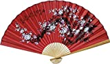 1 X Large 60' Folding Wall Fan -- Prosperity Blossoms -- Original Hand-painted
