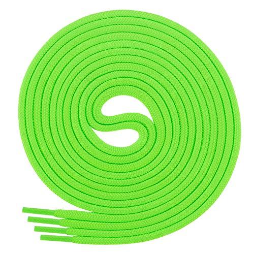 Di Ficchiano Schnürsenkel, Rundsenkel für Business- und Lederschuhe, reißfester Allroundsenkel, ø 3mm Farbe neongrün Länge 120cm