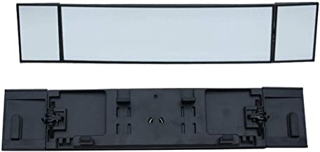 DokFin Universal Car Rearview Mirror,Detachable Tri-Fold Car Blind Spot Curved Mirrors Anti-Glare Wide Angle HD Auto Interior Mirror for Auto SUV Truck