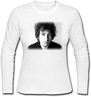 Womens Long Sleeve T-Shirt Bob Dylan Letterbox Ivory Fashion Shirt