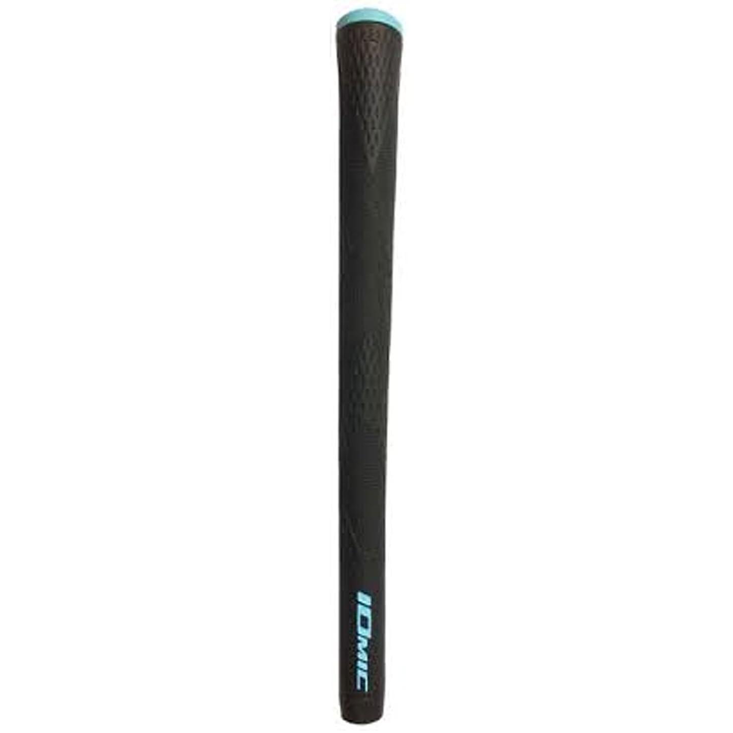 過敏な電化するアーティファクトイオミック IOMIC グリップ X-Grip ハードフィーリング グリップ ブラック×スカイブルー 外径:22.3mm