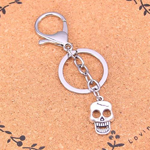 FSDFS Llavero de Metal Cromado Creativo Mejor Regalo Llavero de Calavera Esqueleto Llavero