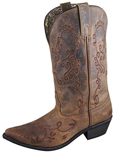 Smoky+Women%27s+Jolen+11%22+Braun+Öl+Use+Leder+Western+Cowboy+Stiefel