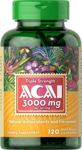 Puritans Pride Triple Strength Acai 3000 Mg, 120 Count