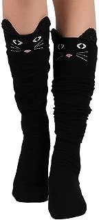 1pcs Femmes Rayure Chaussettes Hautes Genoux Fashion Bas Chausettes Au-dessus DD