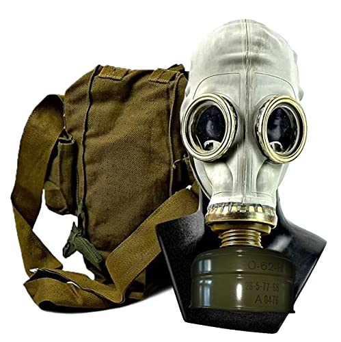 GP5 Gas Mask Gray Rubber Authentic Rare Size Military (1 - M - 25-25.8')