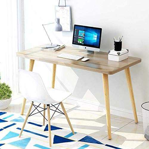 MRZHW Simple Solid wood Desk Computer table Removable Work table Quick assembly Heavy duty Table Multifunctional Conference table-39x20x30inch S