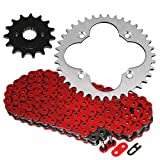Caltric compatible with Red O-Ring Drive Chain & Sprockets Kit Honda TRX400EX TRX 400EX Sportrax 400 1999-2004