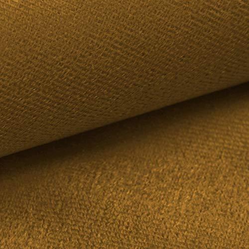 NOVELY® ARTENA Möbelstoff | Velours | samtig weich | Polsterstoff | Bezugsstoff | PFLEGELEICHT | ANSCHMIEGSAM (33 Senfgelb)