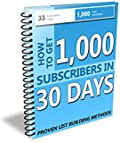 Email marketing, Internet marketing, List building best ebook of 1000 subscribers in 30 Days