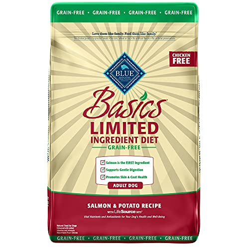 Blue Buffalo Basics Limited Ingredient Diet, Grain Free Natural Adult Dry Dog Food
