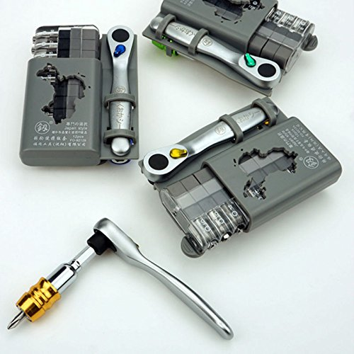 Set-C, Special Groove Screwdriver, Multifunctional Folding Wrench Set, Mini Ratchet Handle Wrench, Maintenance Tools SET C