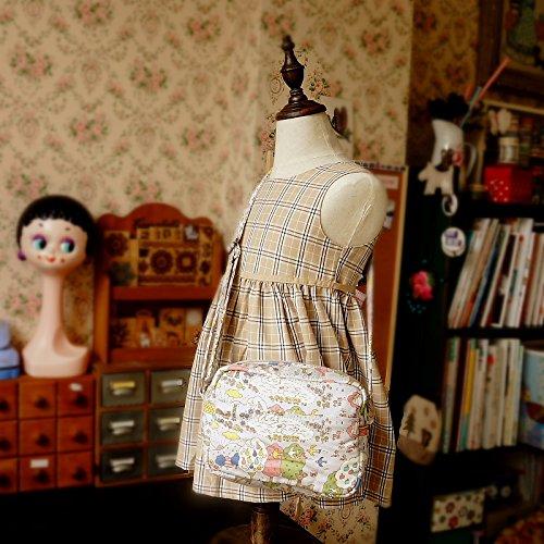 Free Shipping Cute Handmade Japanese Kokka Fabric Girl Kids Bag - Nordic Forest Grey