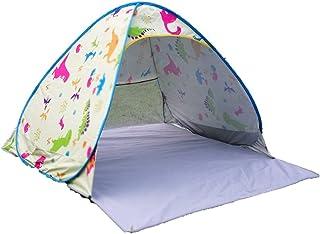 IDWOI-tält popup strandtält för barn UPF 50+ för UV-skydd solskydd karikatyr ljus bärbart tält